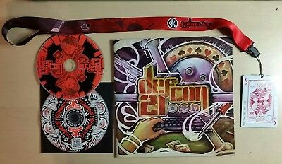 DEF CON 21 (2013) Registration pack, CDs, booklet, human badge. Rare!