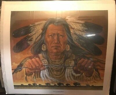 ENOCH KELLY HANEY LIMITED EDITION SIGNED & NO. PRINT/ 14 Of 25 Native American