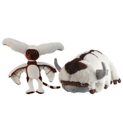 The Last Airbender APPA AVATAR & & Momo Plush Stuffed Animals Toy Xmas Gift