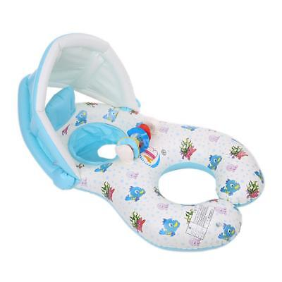 Safety Newborn Infant Mommy Baby Swimming Float Ring Bath Inflatable Circle Z0W1