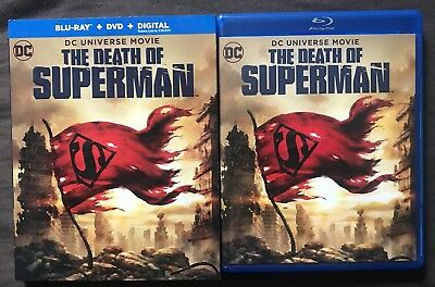 Dc Comics The Death Of Superman Blu Ray + Dvd With Slipcover Sleeve Free Shippin