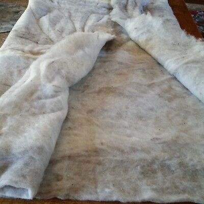 Large, commercially carded wool batt. For wet or needle felting 1.9 m x 1.8m