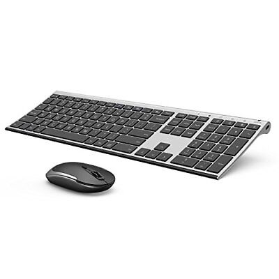 Wireless Keyboard and Mouse Vive Comb 2.4GHz Rechargeable Compact Whisper Quiet