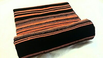 Serape 84x64 inch Mexican blanket Seat cover Lowrider,motorcycle  Black Orange