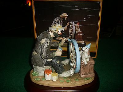 """Emmett Kelly - The Finishing Touch - Porcelain - New in Box - 7 1/2"""" Tall"""