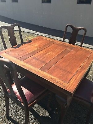 Antique Late Victorian English Mahogany Dining Table, 4-6 Seater,