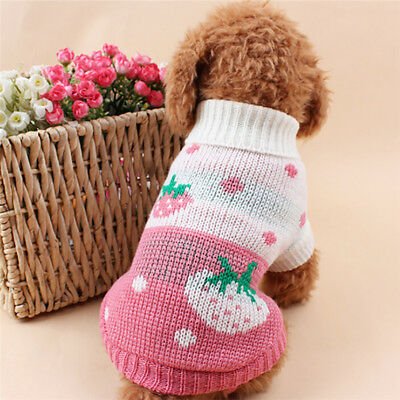 Small Dog Winter Warm Soft Sweater Suitable Pet Clothes Sweater Knitwear Acrylic