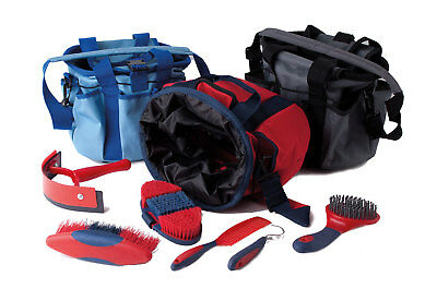 Rhinegold Grooming Bag - with grooming brushs In 3 Colours