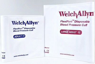 Welch Allyn FlexiPort Blood Pressure BP Cuff Adult Size VINYL-11 & 12 (Set of 2)