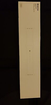 NEW Apple Watch 38MM Genuine Sport Band - WHITE - AUTHENTIC (SM/ML)