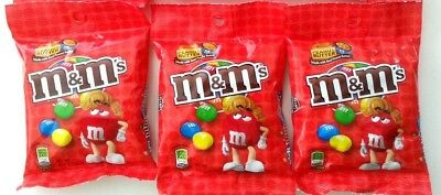 3 x M&M's Peanut Butter Candy Chocolate Peg Bag 144.6g