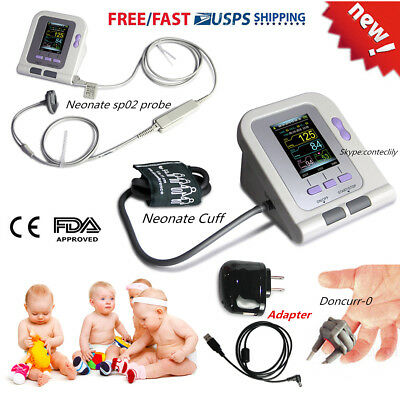 CONTEC08A Neonate/Pediatric Digital Blood Pressure Monitor NIBP+SpO2,AC Power