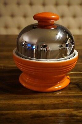 Vintage Fiesta Orange Hankscraft Co. Madison Wis. Egg Cooker # 815 Works Great