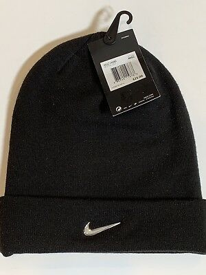 detailed look 22884 56085 Nike Swoosh Knitted Winter Cap Brand New Adult Size Unisex Black Cuffed Ski  Hat
