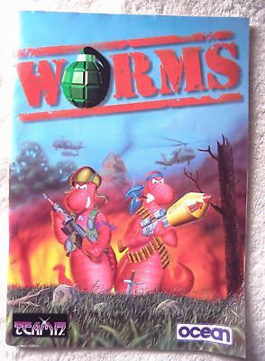 60900 Instruction Booklet - Worms - Commodore Amiga (1995)