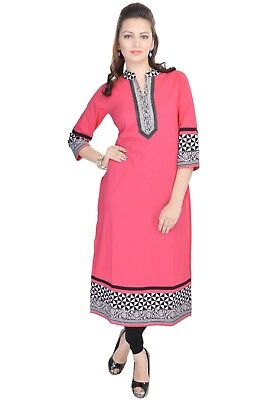 Indian Bollywood Kurta Kurti Designer Women Ethnic Dress Top  2287