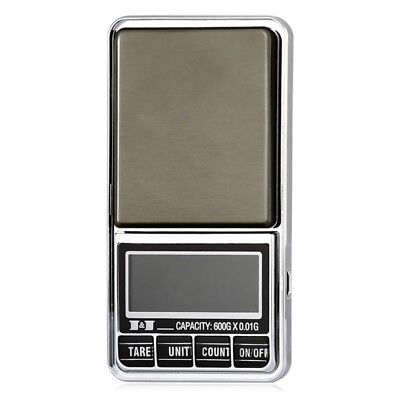 600g 0.01 DIGITAL ELECTRONIC POCKET JEWELLERY SCALES 10 milligram Micro-gm A7I7