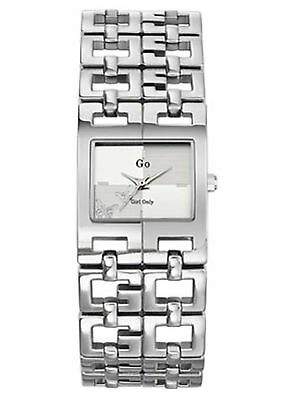 Go Women's 694511 Square Silver Dial Brass Wristwatch