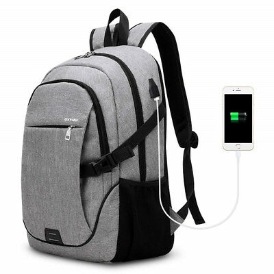 Business Backpack SKL Basic Laptop Water Resistant Computer + USB Charging Port
