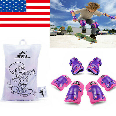 Kids Knee Pad Elbow Guards Protective Gear Set for Skate Skateboard Roller Cycle