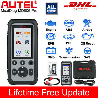 Autel MD808 Pro Auto Diagnostic Tool OBD2 Code Reader ABS EPB Engine SRS MD802