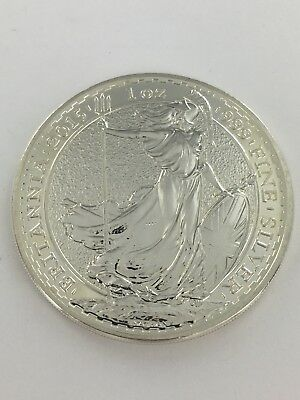 Fine One Ounce Britannia silver Two Pound Coin 1999 Excellent Condition