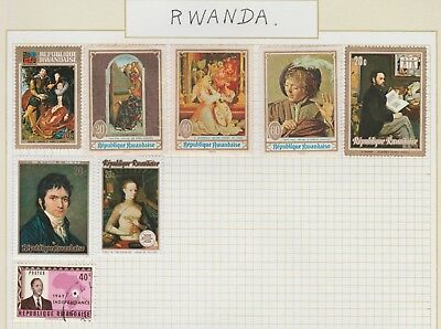 RWANDA COLLECTION  Concert Artists Independence etc on Old Book Pages #