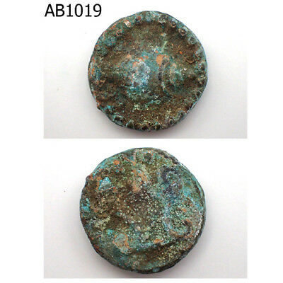 Ancient Holy Persian Empire Near Eastern Patina Bronze Coin 100 AD #1019