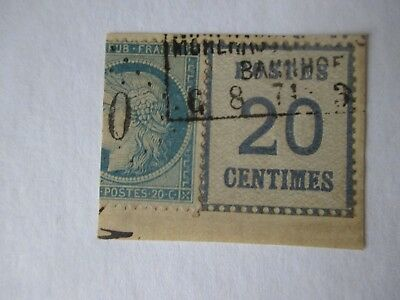 Germany Stamps - Alsace Occupation 1870 - 1871.
