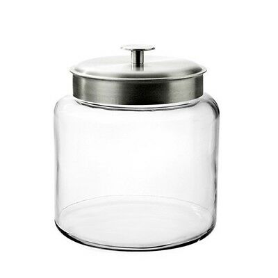 Jar Glass Container Large Storage 2 Gallon Lid Pantry Counter Dishwasher Safe