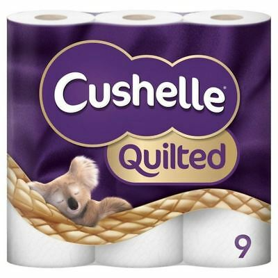 6x Cushelle Quilted Toilet Rolls 9 per pack