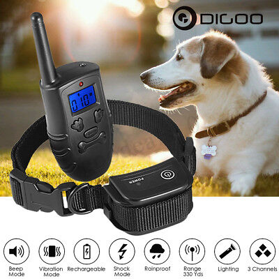 Digoo Waterproof Electric Trainer E-Collar Remote Pet Safety Dog Shock Training