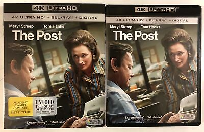 The Post 4K Ultra Hd Blu Ray 2 Disc Set + Slipcover Sleeve Free World Shipping
