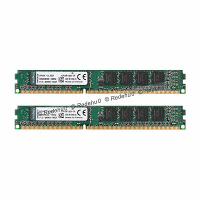 For Kingston 8GB 2x 4GB DDR3 1600MHz PC3-12800 240 pin DIMM intel Desktop Memory