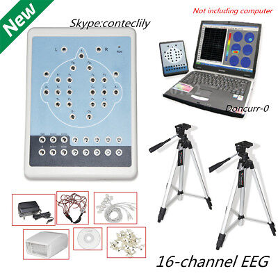 CONTEC KT88 Digital 16-Channel EKG/EEG Machine Mapping System Software+Tripods
