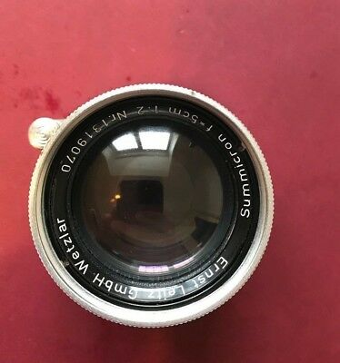 Leica Summicron 50mm 1:2 screw mount lens