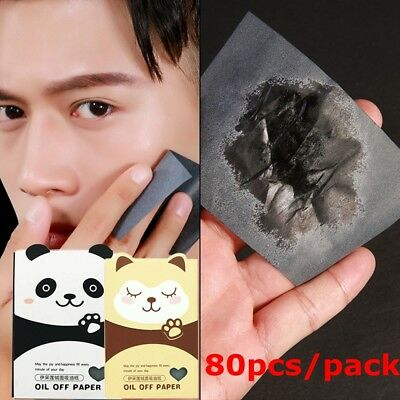 80 Sheets Make Up Oil Control Oil-Absorbing Blotting Facial Face Clean Papers