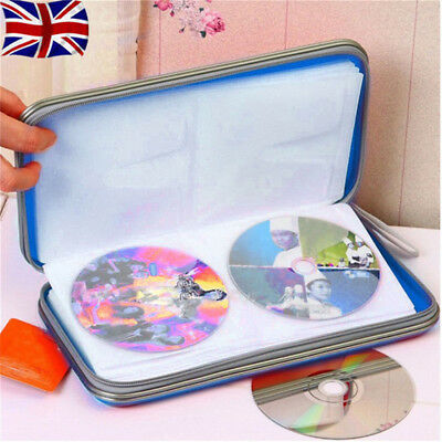 80 CD DVD Carry Case Disc Storage Holder CD Case Sleeve Wallet Ideal for In Car
