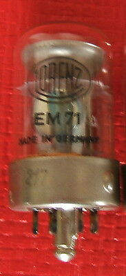 1 x EM71A EM 71 A Röhre, tube, valve, Lorenz, magic eye, Magisches Auge