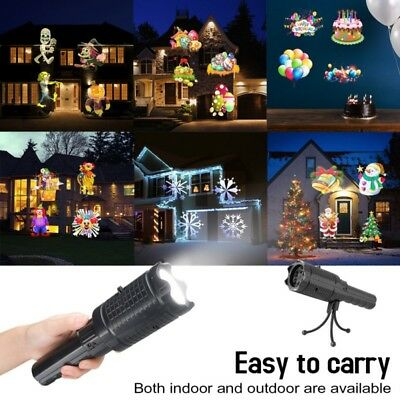 LED Christmas Fairy Lights  With 12 Patterns Projector Handheld Flashlight Light