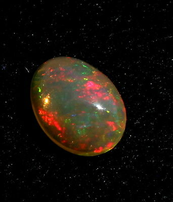 0.30 Ct.natural Welo Fire Ethiopian Opal Oval Cabochon Gemstone Op-166