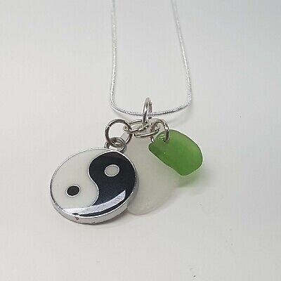 Handmade in Cornwall Fairy and Sea Glass Necklace