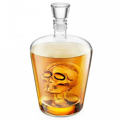 BrainFreeze Skull Decanter 1L Whisky Rum Liquor Skulls Decanter Bar Gift