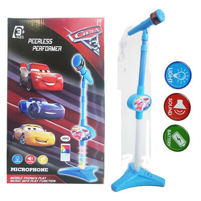 Disney Pixar Cars Mcqueen Microphone Kids Musical Pretend Play Sing LED Toy Gift
