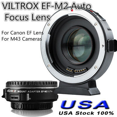 VILTROX EF-M2 Auto Focus Lens Adapter Accessory for Canon EF Lens for M43 Camera