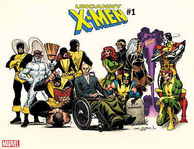 UNCANNY X-MEN #1 COCKRUM HIDDEN GEM WRAPAROUND VAR - G852 - PreOrder 14.11.2018