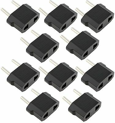 10x Lot US to EU Euro Europe AC Power Wall Plug Converter Travel Adapter Charger