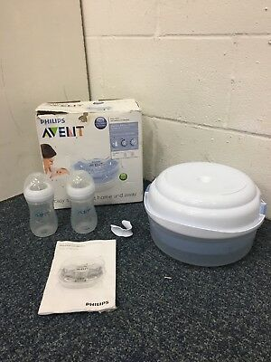 Philips AVENT Microwave Natural Steam Baby Bottle Travel Steriliser Bottles