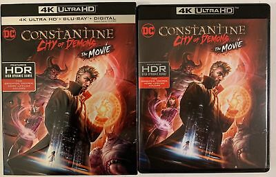 Constantine City Of Demons The Movie 4K Ultra Hd Blu Ray 2 Disc Slipcover Sleeve