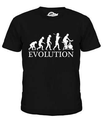 Cycling Machine Evolution Of Man Kids T-Shirt Tee Top Gift Clothing